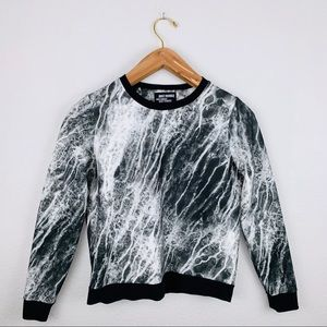 Just Female Women's Marble Sweater Black White